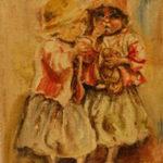 Bída | olej na hrubém plátně