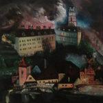 Český Krumlov | akryl na plátně