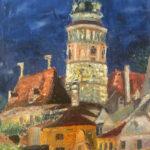 Český Krumlov | olej na plátně - špachtle