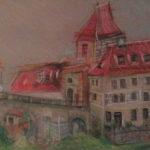 Český Krumlov - Dolní Brána | skica, pastel