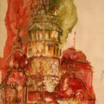 Český Krumlov | olej na šepsovaném plátně