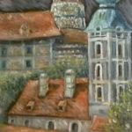 Český Krumlov | olej na plátně