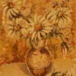 Kopretiny | tempera na hrubém plátně