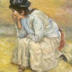 Odpočívající žena | olej na plátně