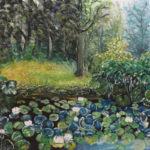 Jezírko v lese | olej na plátně