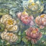 Květy | monotyp, olej