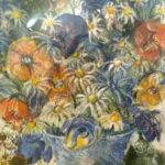 Kytice polních květin | monotyp, olej