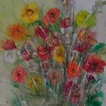 Luční květy | monotyp