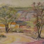 Plenér | skica, akvarel - pastel