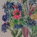 Polní květ | mastný pastel
