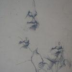 Skica k portrétu | tuha