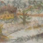 Skica, v plenéru | akvarel-pastel