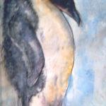 Tučňák | skica, olej