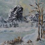 Zima | olej na plátně , špachtle