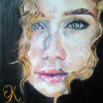 Dívka se zlatem | olej
